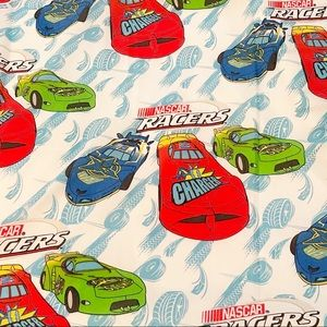 Vintage NASCAR Racers Twin Flat Bed Sheet